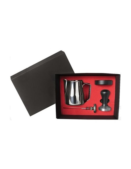 Barista Box Black Tamper Handle And Holder